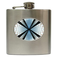 Dimension Metal Abstract Obtained Through Mirroring Hip Flask (6 Oz)