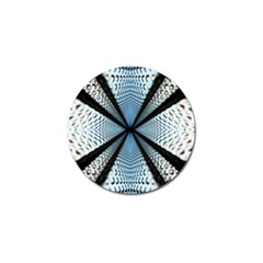 Dimension Metal Abstract Obtained Through Mirroring Golf Ball Marker (4 Pack)