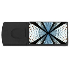 Dimension Metal Abstract Obtained Through Mirroring USB Flash Drive Rectangular (1 GB)
