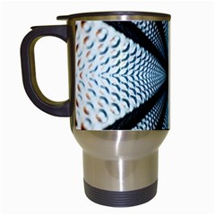 Dimension Metal Abstract Obtained Through Mirroring Travel Mugs (white)
