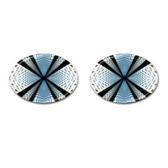 Dimension Metal Abstract Obtained Through Mirroring Cufflinks (oval)