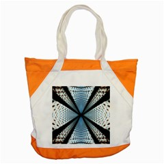 Dimension Metal Abstract Obtained Through Mirroring Accent Tote Bag
