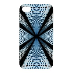 Dimension Metal Abstract Obtained Through Mirroring Apple iPhone 4/4S Premium Hardshell Case