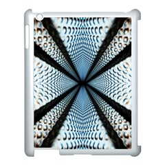Dimension Metal Abstract Obtained Through Mirroring Apple iPad 3/4 Case (White)
