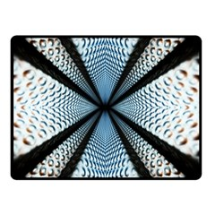 Dimension Metal Abstract Obtained Through Mirroring Double Sided Fleece Blanket (Small)