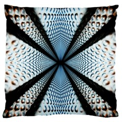 Dimension Metal Abstract Obtained Through Mirroring Standard Flano Cushion Case (one Side)