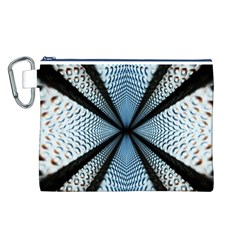 Dimension Metal Abstract Obtained Through Mirroring Canvas Cosmetic Bag (L)