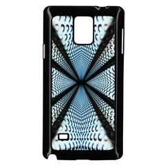 Dimension Metal Abstract Obtained Through Mirroring Samsung Galaxy Note 4 Case (black)