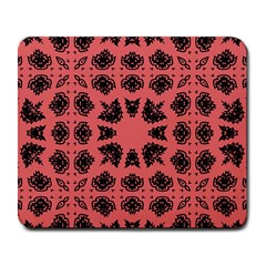 Digital Computer Graphic Seamless Patterned Ornament In A Red Colors For Design Large Mousepads