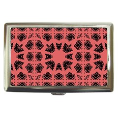 Digital Computer Graphic Seamless Patterned Ornament In A Red Colors For Design Cigarette Money Cases