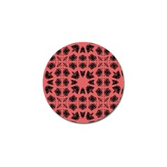 Digital Computer Graphic Seamless Patterned Ornament In A Red Colors For Design Golf Ball Marker (10 pack)