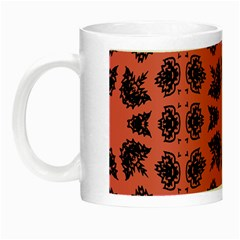 Digital Computer Graphic Seamless Patterned Ornament In A Red Colors For Design Night Luminous Mugs