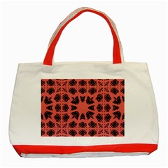 Digital Computer Graphic Seamless Patterned Ornament In A Red Colors For Design Classic Tote Bag (Red)