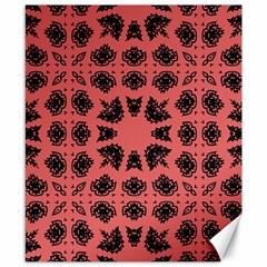 Digital Computer Graphic Seamless Patterned Ornament In A Red Colors For Design Canvas 8  X 10
