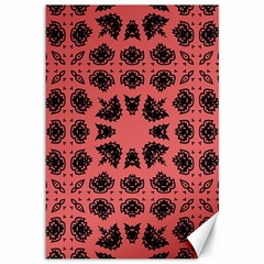 Digital Computer Graphic Seamless Patterned Ornament In A Red Colors For Design Canvas 12  X 18