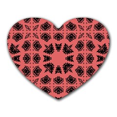 Digital Computer Graphic Seamless Patterned Ornament In A Red Colors For Design Heart Mousepads