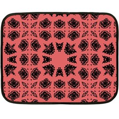 Digital Computer Graphic Seamless Patterned Ornament In A Red Colors For Design Double Sided Fleece Blanket (mini)