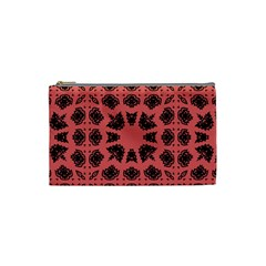 Digital Computer Graphic Seamless Patterned Ornament In A Red Colors For Design Cosmetic Bag (small)