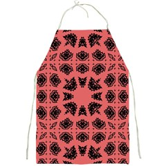 Digital Computer Graphic Seamless Patterned Ornament In A Red Colors For Design Full Print Aprons