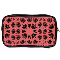 Digital Computer Graphic Seamless Patterned Ornament In A Red Colors For Design Toiletries Bags 2 Side