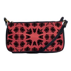Digital Computer Graphic Seamless Patterned Ornament In A Red Colors For Design Shoulder Clutch Bags