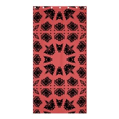 Digital Computer Graphic Seamless Patterned Ornament In A Red Colors For Design Shower Curtain 36  X 72  (stall)
