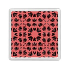 Digital Computer Graphic Seamless Patterned Ornament In A Red Colors For Design Memory Card Reader (square)