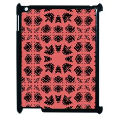 Digital Computer Graphic Seamless Patterned Ornament In A Red Colors For Design Apple iPad 2 Case (Black)