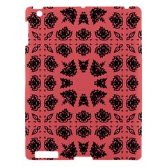 Digital Computer Graphic Seamless Patterned Ornament In A Red Colors For Design Apple iPad 3/4 Hardshell Case