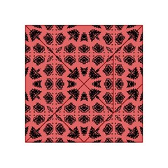 Digital Computer Graphic Seamless Patterned Ornament In A Red Colors For Design Acrylic Tangram Puzzle (4  X 4 )
