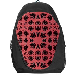 Digital Computer Graphic Seamless Patterned Ornament In A Red Colors For Design Backpack Bag