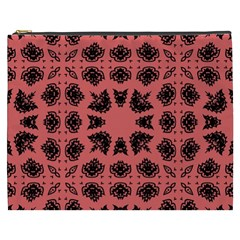 Digital Computer Graphic Seamless Patterned Ornament In A Red Colors For Design Cosmetic Bag (XXXL)