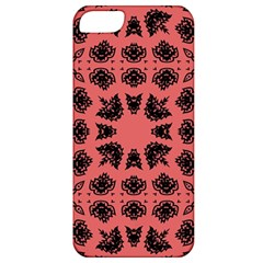 Digital Computer Graphic Seamless Patterned Ornament In A Red Colors For Design Apple iPhone 5 Classic Hardshell Case