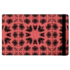 Digital Computer Graphic Seamless Patterned Ornament In A Red Colors For Design Apple Ipad 3/4 Flip Case
