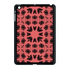 Digital Computer Graphic Seamless Patterned Ornament In A Red Colors For Design Apple Ipad Mini Case (black)