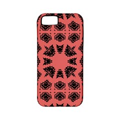 Digital Computer Graphic Seamless Patterned Ornament In A Red Colors For Design Apple Iphone 5 Classic Hardshell Case (pc+silicone)