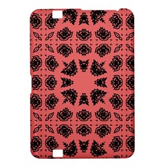 Digital Computer Graphic Seamless Patterned Ornament In A Red Colors For Design Kindle Fire HD 8.9