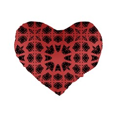 Digital Computer Graphic Seamless Patterned Ornament In A Red Colors For Design Standard 16  Premium Heart Shape Cushions
