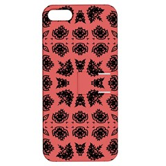 Digital Computer Graphic Seamless Patterned Ornament In A Red Colors For Design Apple iPhone 5 Hardshell Case with Stand