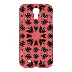 Digital Computer Graphic Seamless Patterned Ornament In A Red Colors For Design Samsung Galaxy S4 I9500/I9505 Hardshell Case