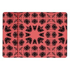 Digital Computer Graphic Seamless Patterned Ornament In A Red Colors For Design Samsung Galaxy Tab 10.1  P7500 Flip Case