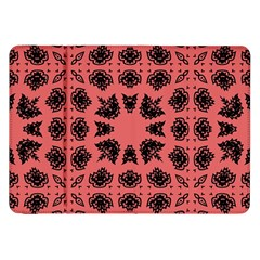 Digital Computer Graphic Seamless Patterned Ornament In A Red Colors For Design Samsung Galaxy Tab 8 9  P7300 Flip Case