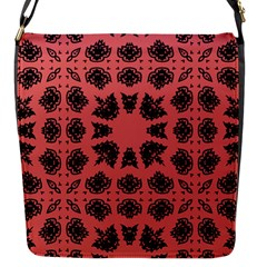 Digital Computer Graphic Seamless Patterned Ornament In A Red Colors For Design Flap Messenger Bag (S)