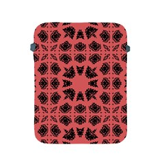 Digital Computer Graphic Seamless Patterned Ornament In A Red Colors For Design Apple iPad 2/3/4 Protective Soft Cases