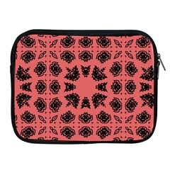 Digital Computer Graphic Seamless Patterned Ornament In A Red Colors For Design Apple iPad 2/3/4 Zipper Cases