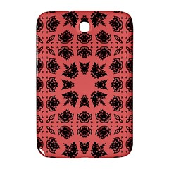 Digital Computer Graphic Seamless Patterned Ornament In A Red Colors For Design Samsung Galaxy Note 8.0 N5100 Hardshell Case