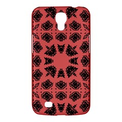 Digital Computer Graphic Seamless Patterned Ornament In A Red Colors For Design Samsung Galaxy Mega 6.3  I9200 Hardshell Case
