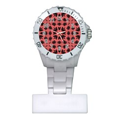 Digital Computer Graphic Seamless Patterned Ornament In A Red Colors For Design Plastic Nurses Watch
