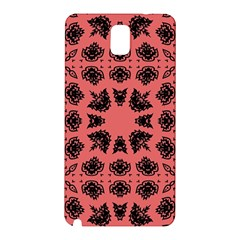 Digital Computer Graphic Seamless Patterned Ornament In A Red Colors For Design Samsung Galaxy Note 3 N9005 Hardshell Back Case