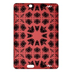 Digital Computer Graphic Seamless Patterned Ornament In A Red Colors For Design Amazon Kindle Fire HD (2013) Hardshell Case